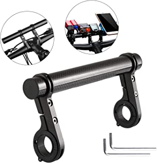 Yizhet Bike Handlebar Extender, Lightweight Durable Aluminum Alloy Double Bicycle Handlebar Extension Bracket for Holding Motorcycle E-Bike Lamp Speedometer GPS Phone Mount Holder