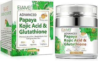 کرم پاپایا کوجیک اسید گلوتاتیون ، کرم محو کننده تغذیه کننده طبیعی پوست ، لکه های تیره روشن ، زخم های آکنه ، آبرسانی شدید ، آرامش بخش ، ارائه پوست الاستیک و جوان