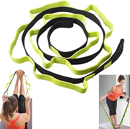 Stretch Strap, Sahara Sailor Exercise Stretch Band with 10 Loops to Increase Flexibility for Yoga Pilates Physical Therapy Ballet Stretches