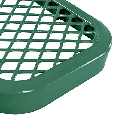 Global Industrial 6'L Expanded Metal Mesh Flat Bench, Green