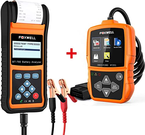 wholesale FOXWELL discount Car Battery Load Tester for wholesale 12V 24V Auto Batteries BT780 Analyzer with Foxwell Car Scanner NT201 online