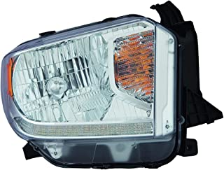 Fits Toyota Tundra 14-16 Headlight Assembly Halogen Platinum Edition LED Daytime Running Lights Passenger Side