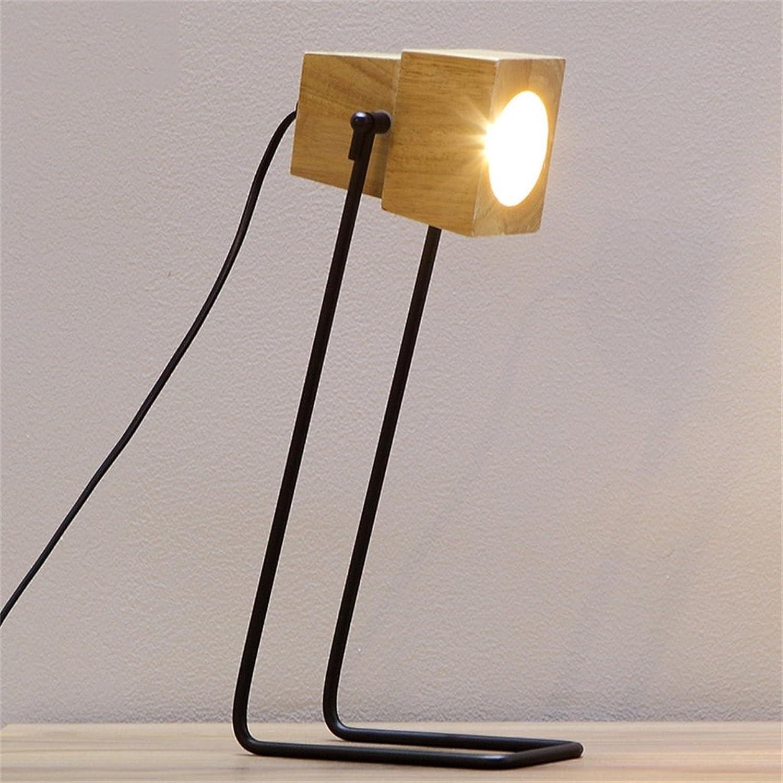 HOME-Moderne minimalistische Holzeisen Arts Tischlampe B01MQIPVDX | eine breite Palette von Produkten