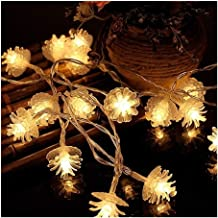 HANGQINGHENG 2m Pine Cone String Light Battery Powered Decorative Lighting Home Garden Christmas Tree Wedding Ornament Nig...