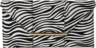 zebra clutch bag