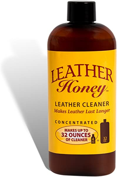 Leather Honey Leather Cleaner The Best Leather Cleaner For Vinyl And Leather Apparel Furniture Auto Interior Shoes And Accessories Concentrated Formula Makes 32 Ounces When Diluted