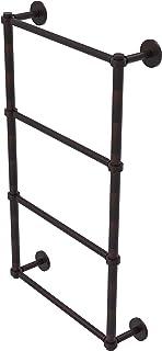 Allied Brass P1000-28G-24 Prestige Skyline Collection 4 Tier 24 Inch Ladder Groovy Detail Towel Bar, Venetian Bronze