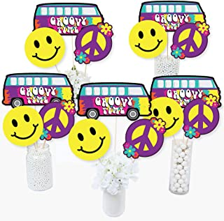60's Hippie - 1960s Groovy Party Centerpiece Sticks - Table Toppers - Set of 15