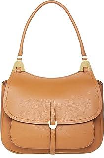 Coccinelle Fauve Schultertasche für Damen, Shoulder Bag, Leder, Braun, 26 x 33 x 10 cm