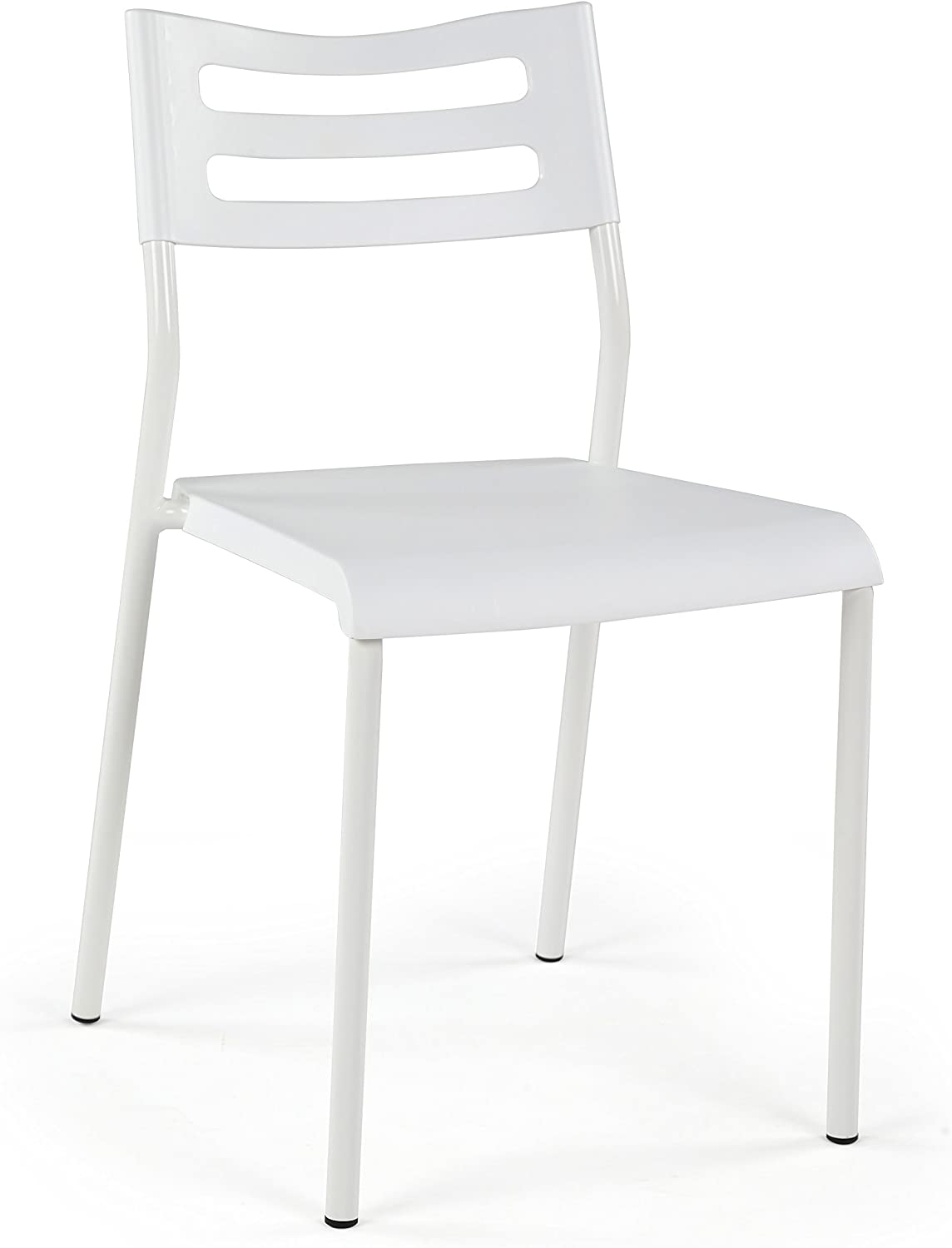 Tot Tutors Humble Crew LT404 Chair for Desks and Kitchen Dining Tables, White, White