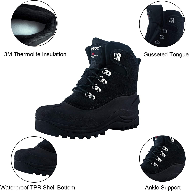 riemot Botas de Nieve para Hombre y Mujer para Exterior Viaje Botas de Senderismo Impermeables Deportes Trekking Zapatos Invierno C/álido Forro de Piel Antideslizante Sneakers Casuales Caminar