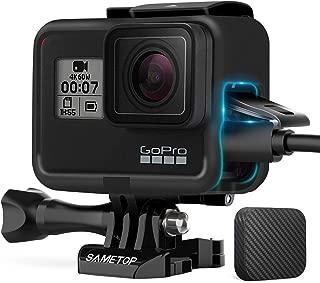 Sametop Frame Mount Housing Case Compatible with GoPro Hero 7 Black, 7 Silver, 7 White, Hero 6, Hero 5, Hero (2018) Cameras