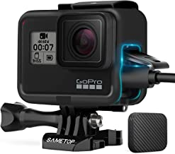 Sametop Frame Mount Housing Case Compatible with GoPro Hero 7 Black, 7 Silver, 7 White, Hero 6 Black, Hero 5 Black, Hero (2018) Cameras