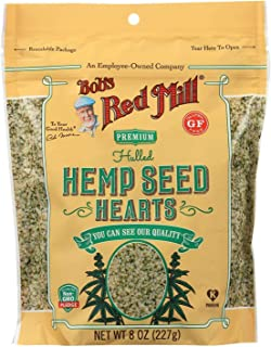 BOB'S RED MILL, Hemp Seeds, Hulled, Pack of 6, Size 8 OZ, (Gluten Free Kosher)