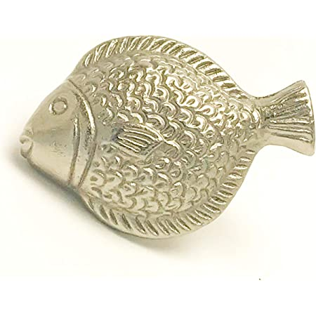 FISH DRAWER CABINET PULLS KNOBS PEWTER New!
