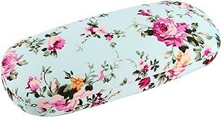 EZESO Fabrics Floral Retro Light Portable Eyeglasses Case