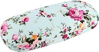 EZESO Glasses Case Spectacle Case Box Fabrics Floral Portable Hard Eyeglass Case