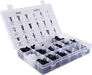 ZENHOX 415 peças, retentor de carro, 18 tamanhos, rebites de pino automotivo, conjunto de fixadores de plástico, clipes de...