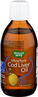 Natures Way, Cod Ultra Pure Liver Oil Lemon, 8 Ounce