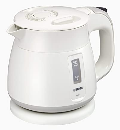 Tiger thermos electric kettle 600ml white Wakuko PCF-G060-W Tiger -海外卖家直邮