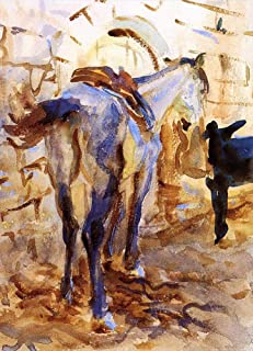 22 Famous Paintings - AED200-4000 Hand Painted by Academic Artists - Saddle Horse Palestine John Singer Sargent - Handmade...