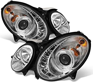 ACANII - For [Halogen Model] 2003-2006 Mercedes Benz W211 E320 E350 E500 LED DRL Chrome Projector Headlights Headlamps