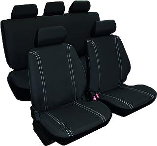 Vip - Juego de fundas para asientos de coche universales, modelo DUERO, color negro, 9 piezas.