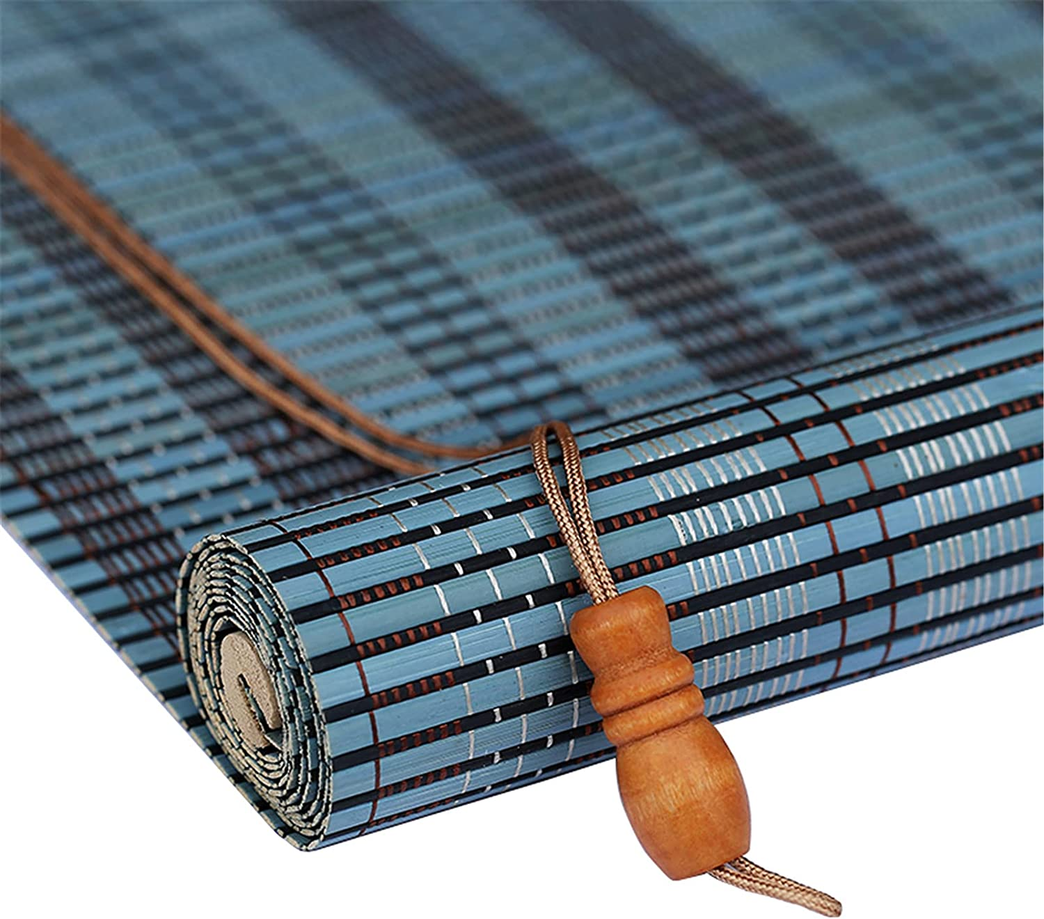 outlet JLCP Blue Bamboo Blinds Customizable Size Omaha Mall Roller Blackout Shades