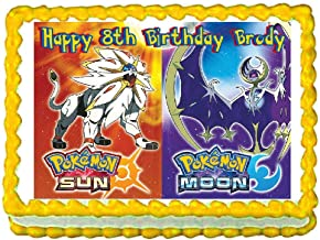 Cakes for Cures Pokemon Sun and Moon Edible Cake Image Cake Topper