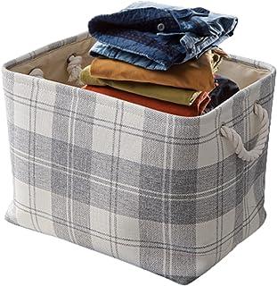 Onlyup Panier de rangement pliable en toile pour jouets, vêtements, maison, 30 x 30 x 40 cm (blanc)