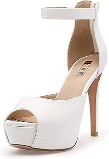 Women's IN5 Iris Platform High Heels Peep Toe Stiletto Dress Pump Heeled Sandals