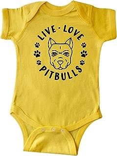 inktastic Live Love Pitbulls Infant Creeper