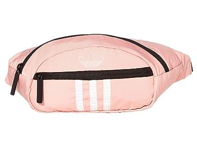 adidas Originals Originals National 3-Stripes Waist Pack (Glory Pink/White) Bags