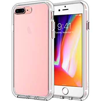JETech Funda Compatible iPhone 8 Plus y iPhone 7 Plus, Carcasa Bumper, Shock-Absorción, Anti-Arañazos, HD Clara