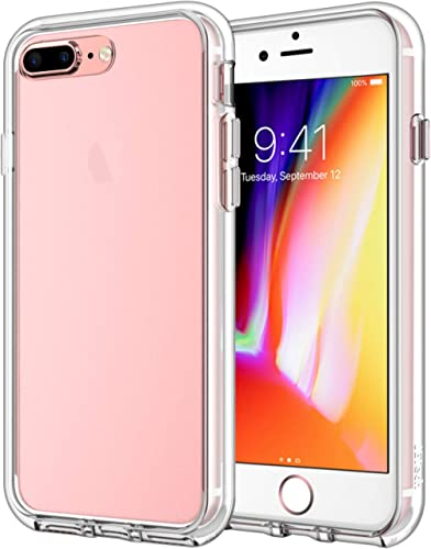 JETech Case for iPhone 8 Plus and iPhone 7 Plus 5.5-Inch, Shock-Absorption Bumper Cover, Anti-Scratch Clear Back (HD ...