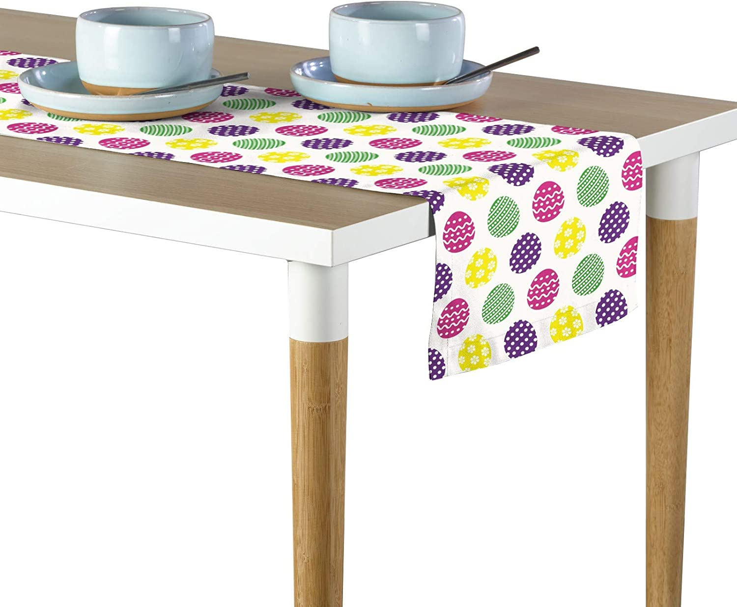 Milliken Colorful Fun Easter Eggs Signature Table Runner Assorted Sizes 14 X108 Home Kitchen
