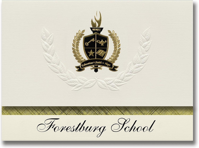 Signature Announcements Forestburg School (Forestburg, TX) Schulabschlussankündigungen, Präsidential-Stil, Elite-Paket Elite-Paket Elite-Paket mit 25 Goldfarbenen und schwarzen metallischen Folienversiegelungen B078VFCYVX    | Reichlich Und Pünktliche Lieferung  848c07