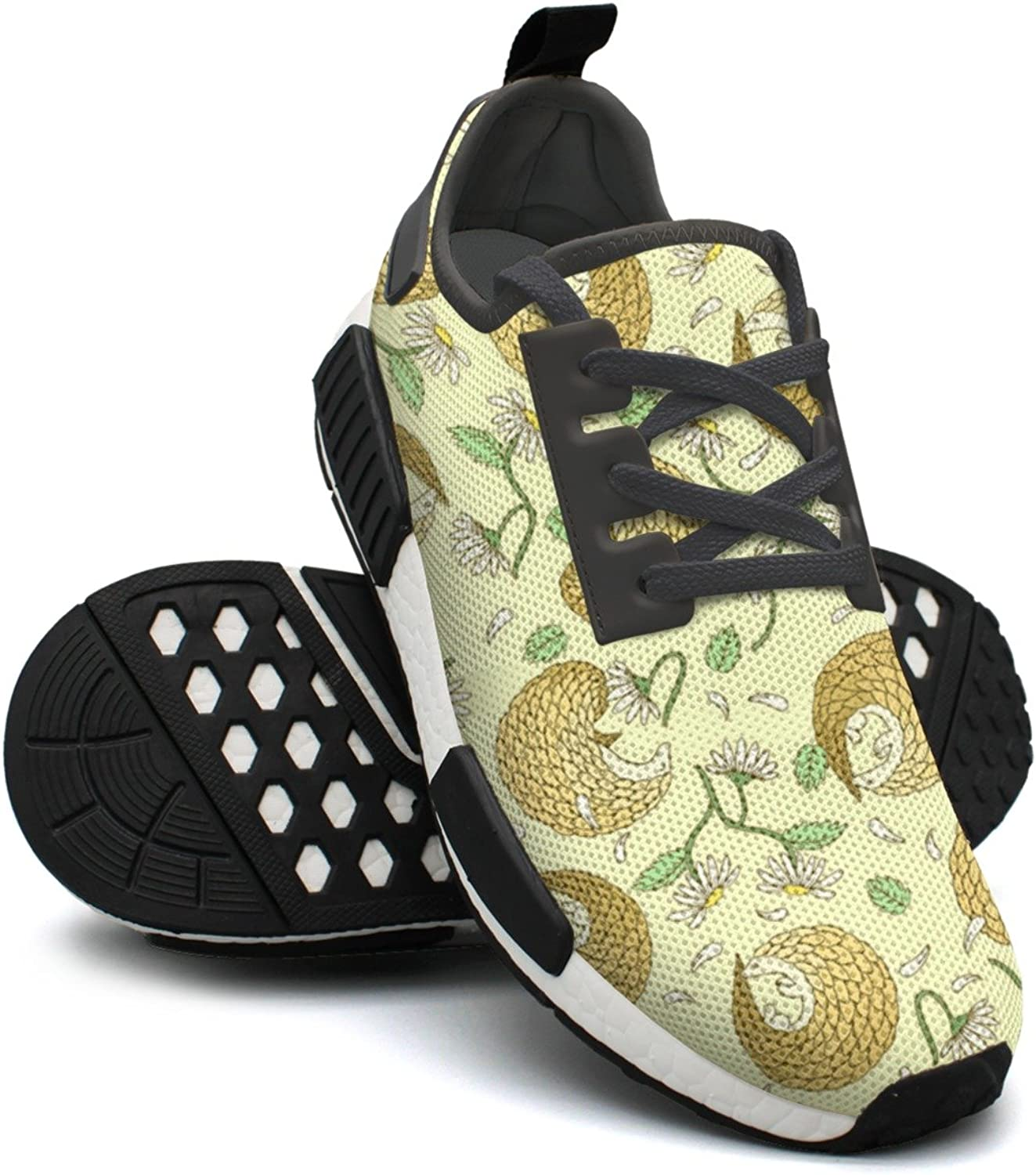 Pangolins and Daisies Women's Hip Hop Lightweight Volleyball Sneakers Gym Outdoor Basketball shoes