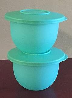 Tupperware Impressions Mini Bowls 2.5 Cup Set of 2 in Sea Green