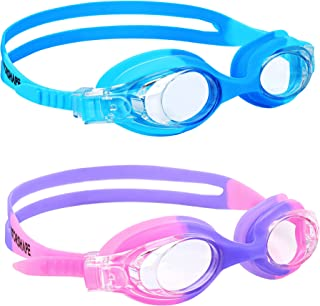 Vorshape Kids Swim Goggles 2 Pack Swimming Goggles for Child and Teens
