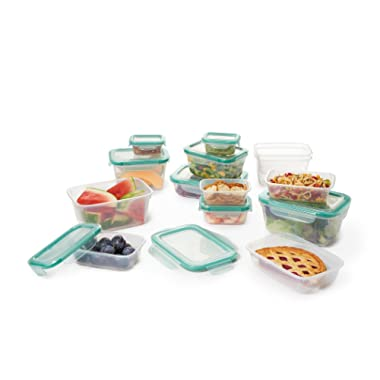OXO Good Grips 28 Piece Smart Seal Leakproof Food Storage Container Set,Clear