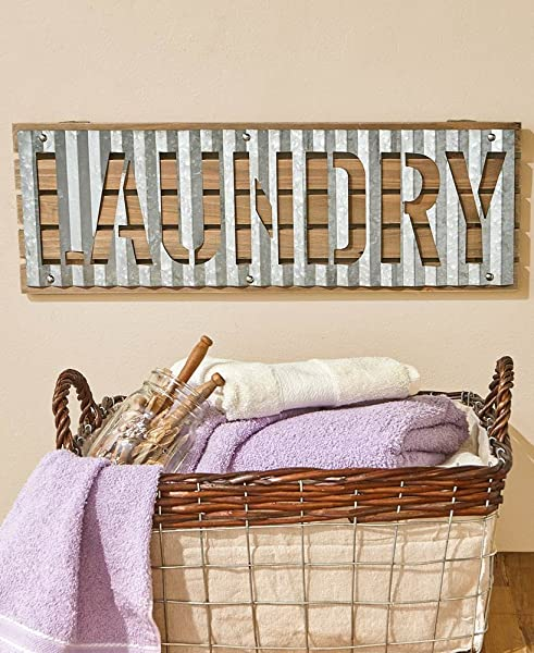 The Lakeside Collection Laundry Wall Sign