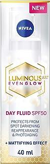 NIVEA Luminous 630 Even Glow Face Day Fluid SPF50 Spot Darkening Protection, 40 ml