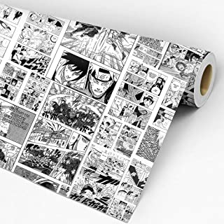 Papel De Parede Adesivo Lavável Quarto Mangá Naruto Anime