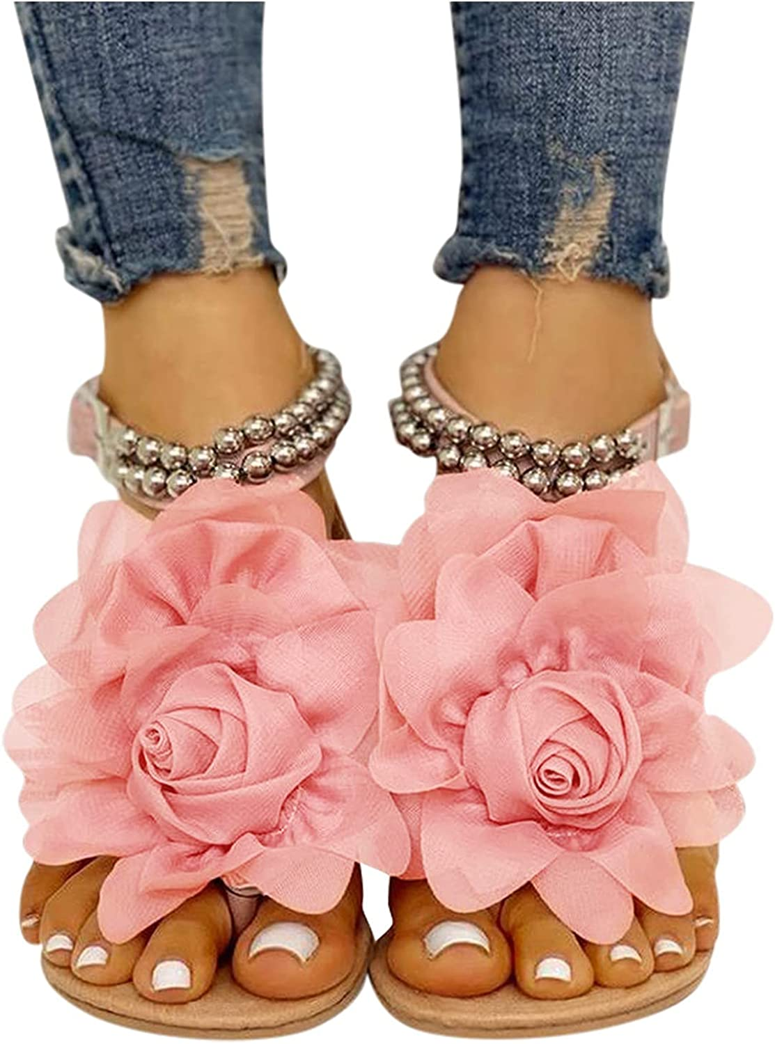 Flat Bohemian Style Casual Sandals Slippers Women's Open To