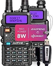 2PCs Baofeng Radios UV-5R MK4 8 Watt MP Max Power with Programming Cable Compatible with Baofeng Ham Radio, Two Way Radios...