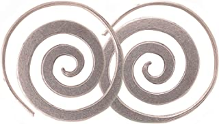 Beautiful Coil Earrings Karen Hill Tribe Pure Silver