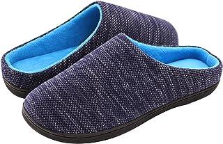 RockDove Men's Birdseye Knit Memory Foam Slipper