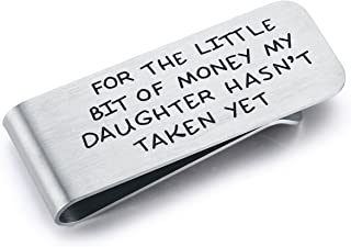 CJ&M Money Clip for Dad, for The Little Bit of Money My Daughter Hasn't Taken Father Money Clip,Father of The Bride Gift,Dad Money Clip, from Daughter