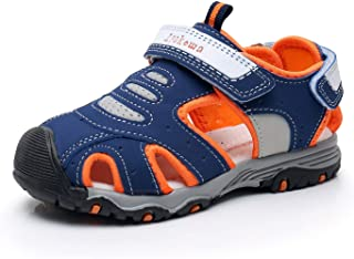 Ahannie Kids Boys Toddler/Little Kid Closed-Toe Summer Hiking Outdoor Water Sandals Breathable Mesh Athletic Sneakers Shoes